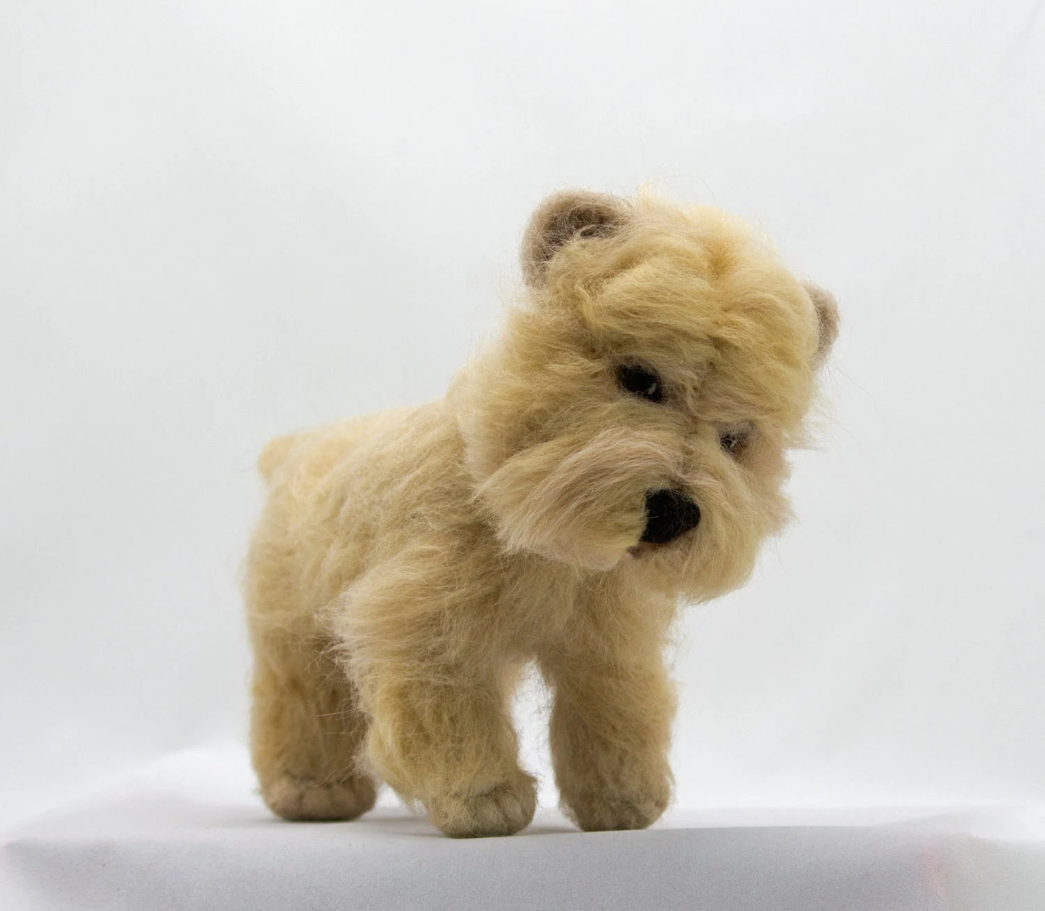 Cairn Terrier Wheaten Wool Soft Sculpture