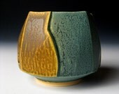 Square Teabowl with Carved Sides
