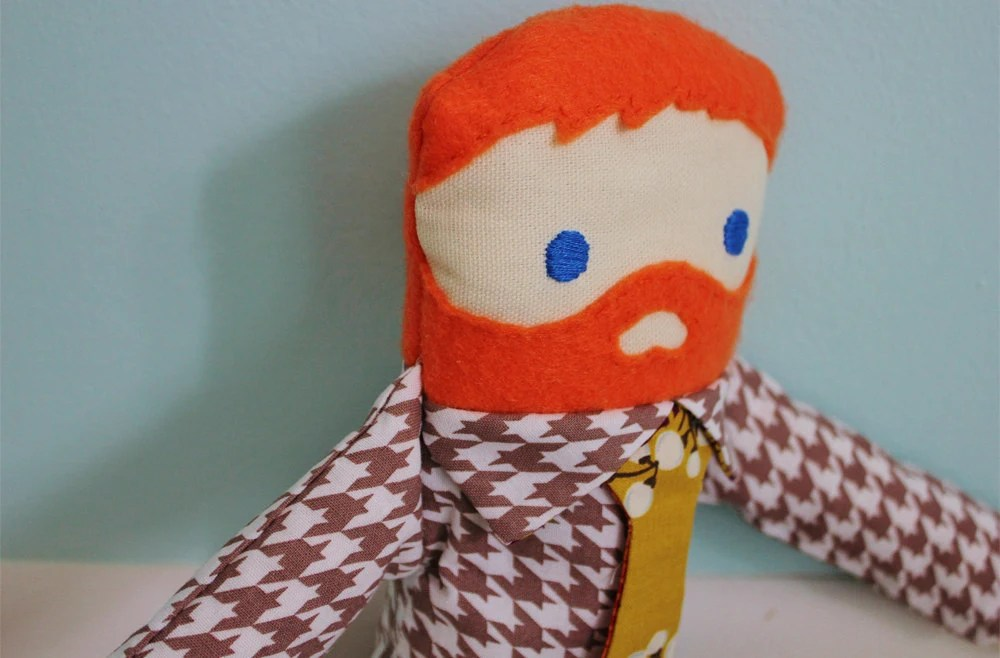 Who's Your Daddy Doll - Red Bearded Business Man - DukeandJune