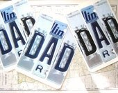 Vintage DAD License Plate Birthday or Father's Day Card - VintageScraps