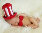 Crochet Uncle Sam Hat and Tie - Custom Order - MySweetPotato3