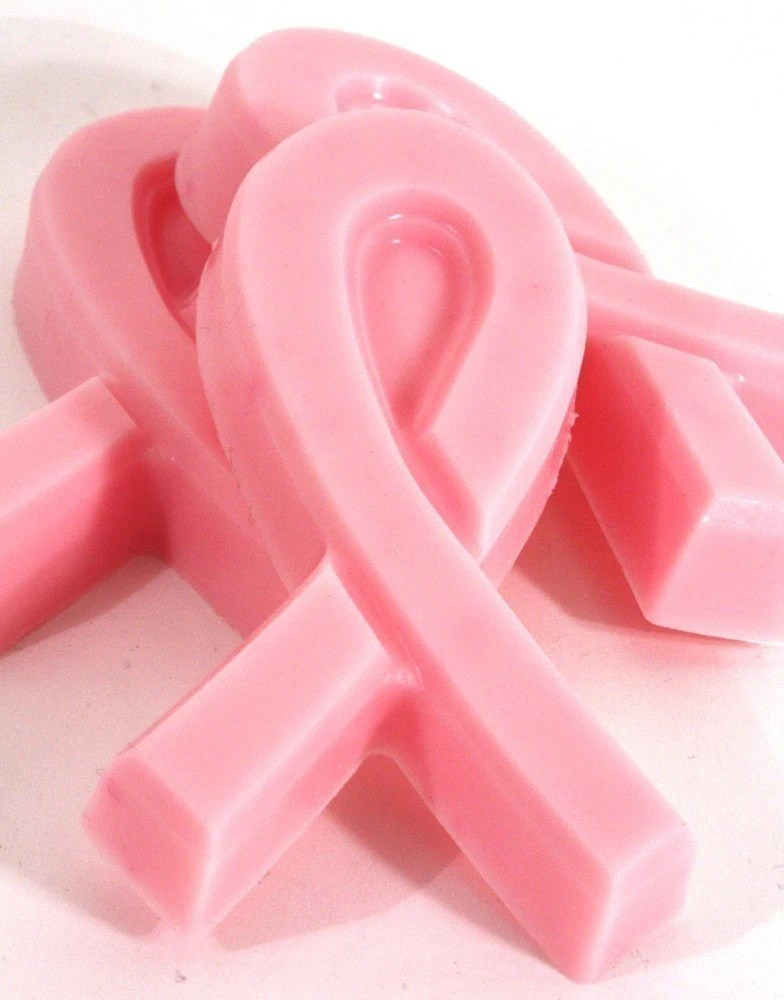 Breast Cancer Awareness Pink Ribbon Soap - Handmade Shea Butter Soap - Set of 3