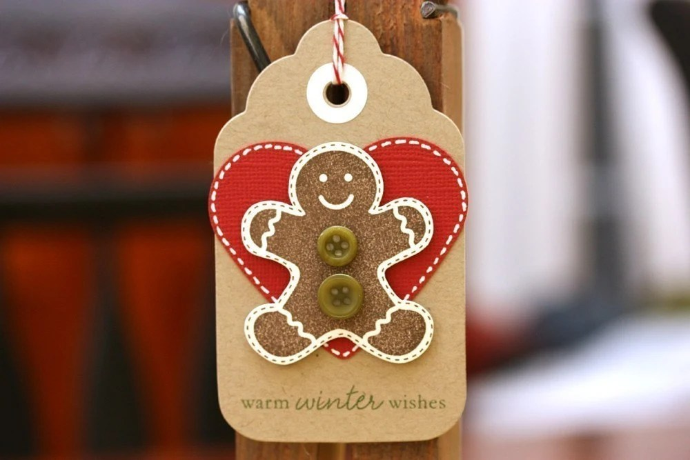 Warm Gingerbread Cookie Wishes - Holiday Gift Tags - Set of 5