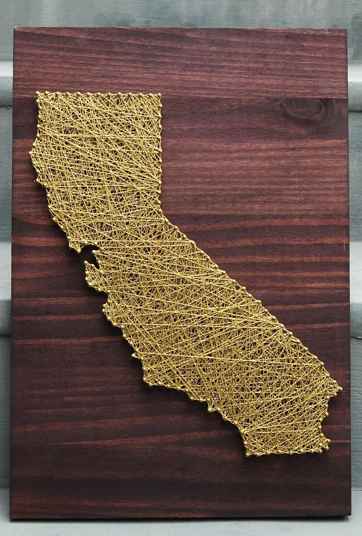 Mixed Media Nail & Metallic String California