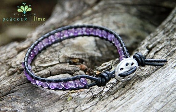 Los Cabos single leather wrap bracelet - surf series collection
