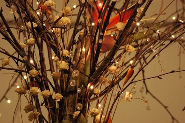 Weddings and Special Events Lighted Centerpiece, title: Woodland Magic
