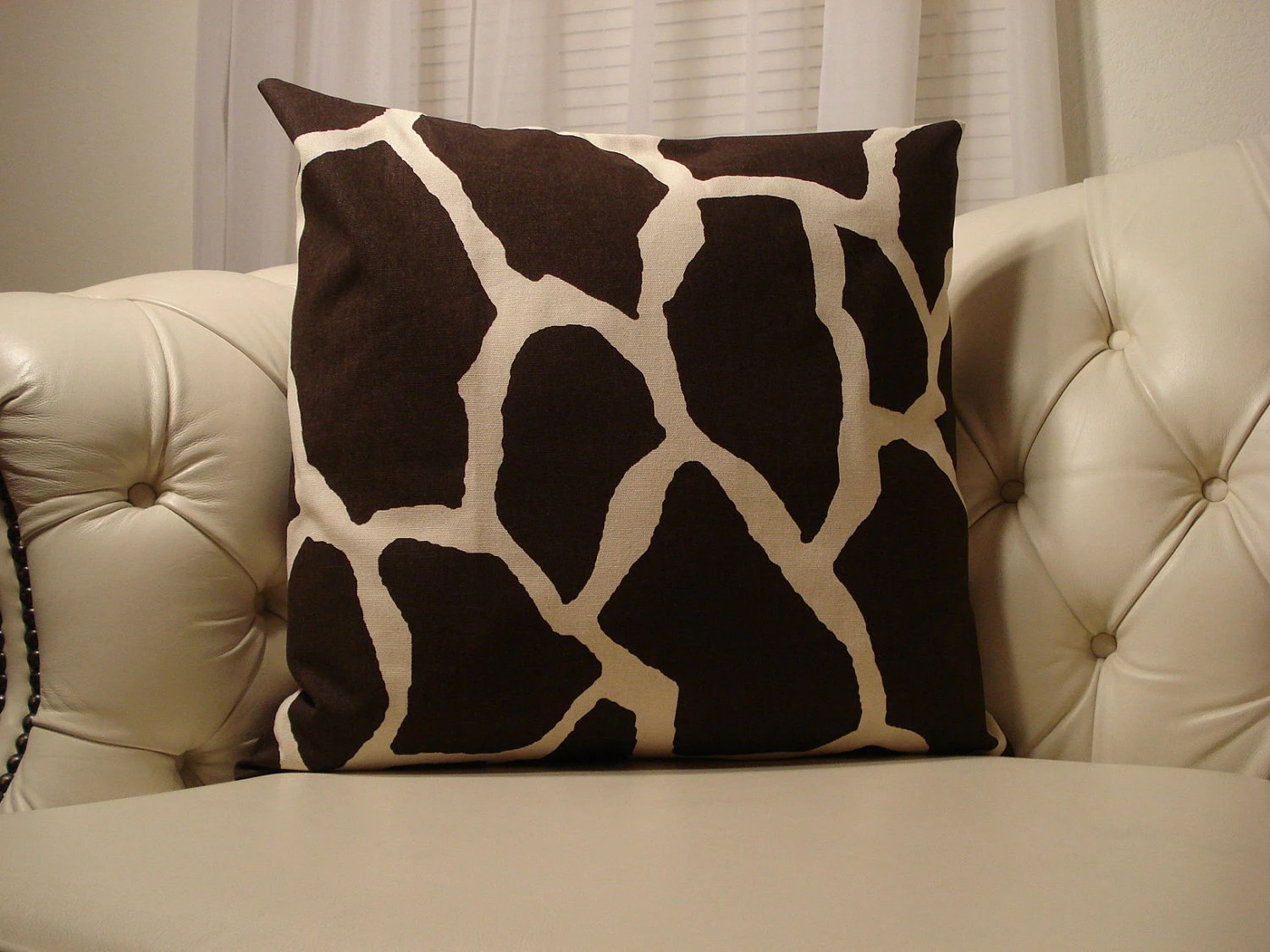 Giraffe Print Pillow Cover and Insert