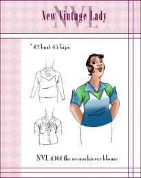 NVL 1930s The Overachiever Blouse 42 bust PLUS SIZE