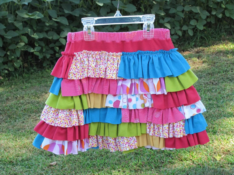 Bubble Gum Fun Ruffle Skirt - Size 8/10