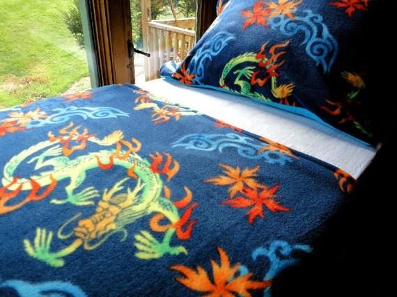 """""""Chinese Dragons"""" Baby/Toddler Fleece Blanket Set - $95"""