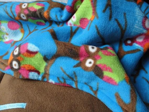 """Owls at Midnight"" Fleece Baby/Toddler Blanket - $40"