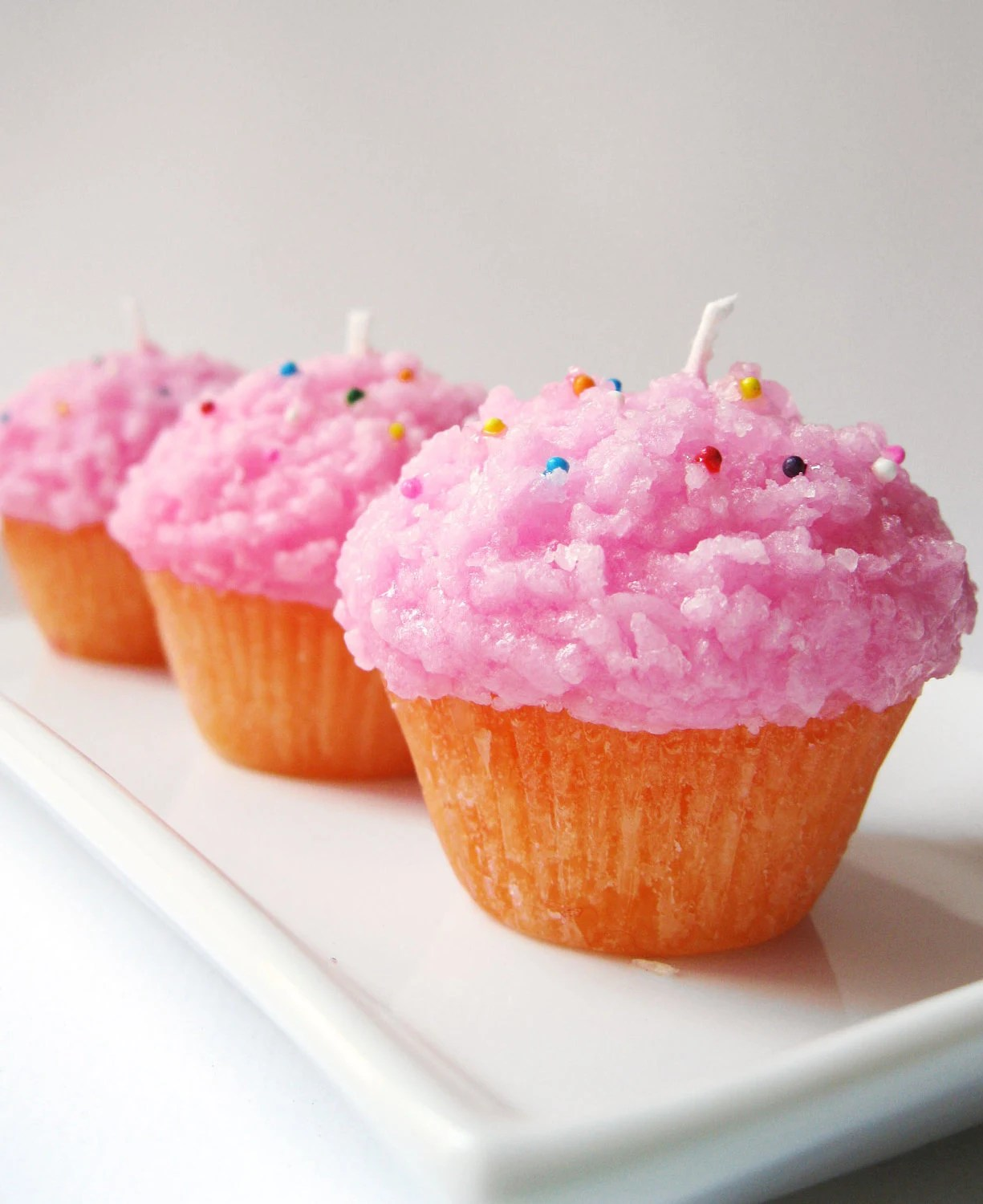 candle, cupcake, wax, pink, cupcakes, candles, etsy