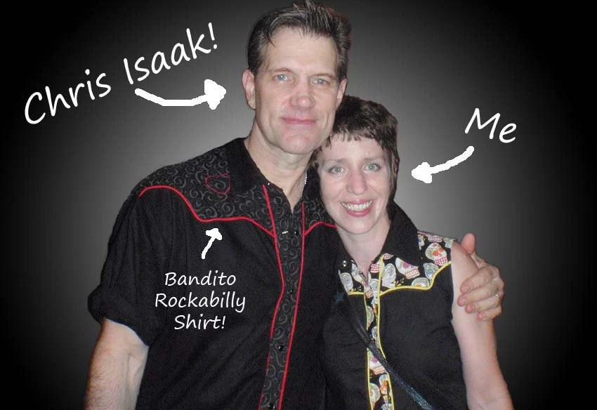 Chris Isaak wearing Bandito Rockabilly