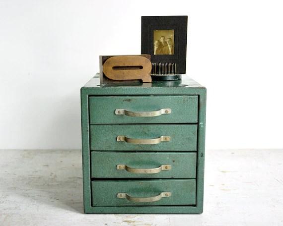 Vintage Metal Shop Drawer Cabinet