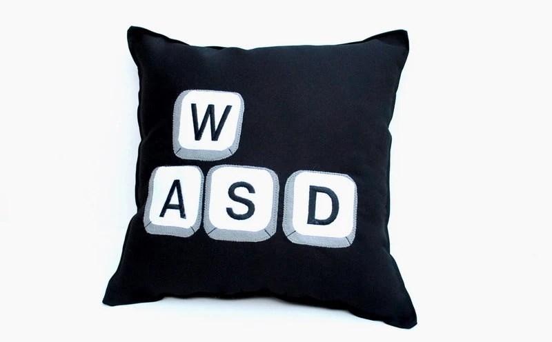 Computer Gaming Keys on Keyboard Pillow- WASD