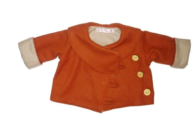 Pumpkin wool coat from Theonutmegotree