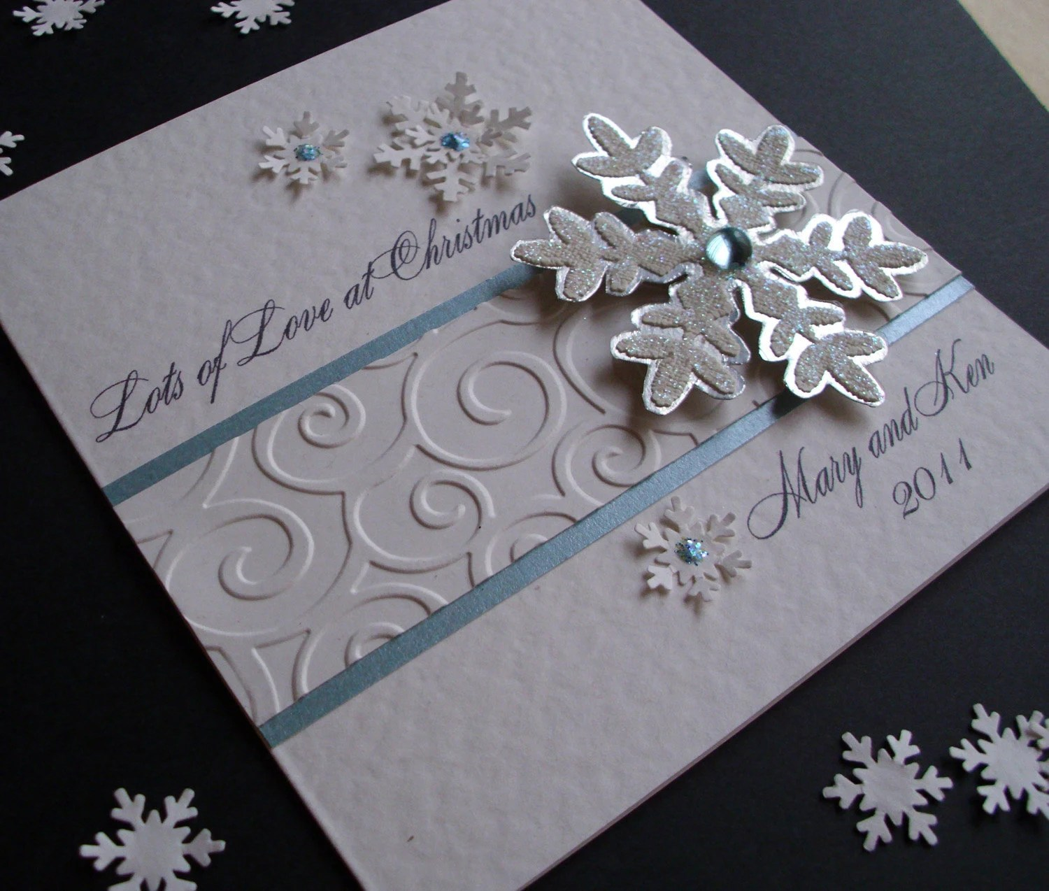 Sparkly Snowflake Christmas Card Personalised By
