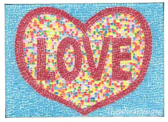Love ACEO art cards editions and originals Print  by Theodora