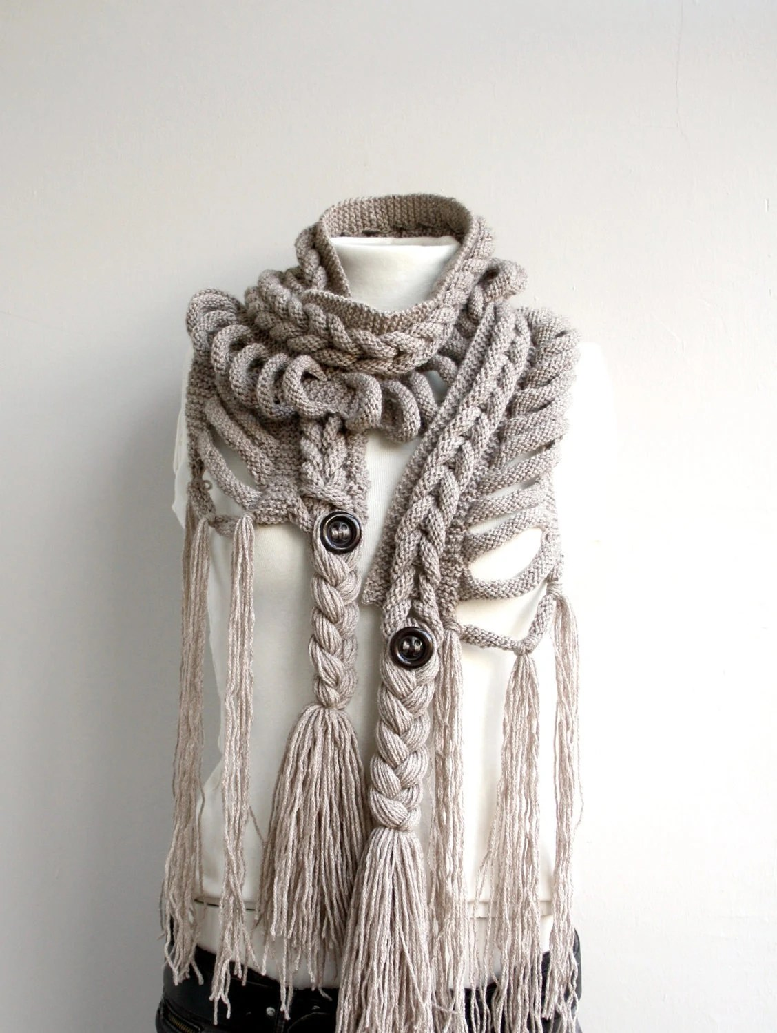 Free SHIPPING Milky Brown Wool  Scarf valentines Day perfect Gift Under 75 For Women For Girl Friend