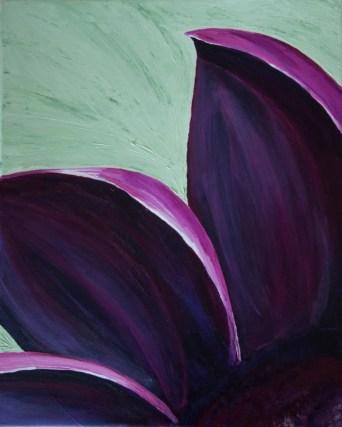 Purple flower on Green