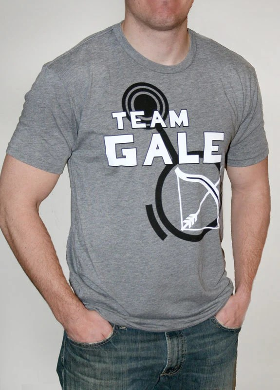 Unisex Hunger Games Team Gale T-Shirt with Bow and Arrow Graphic, Grey