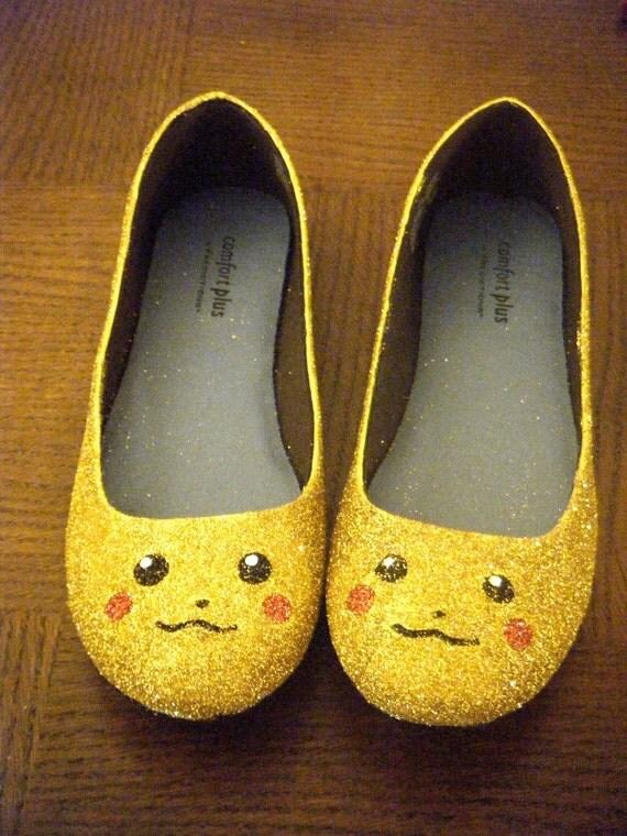 Pikachu Pokemon Glitter Shoes