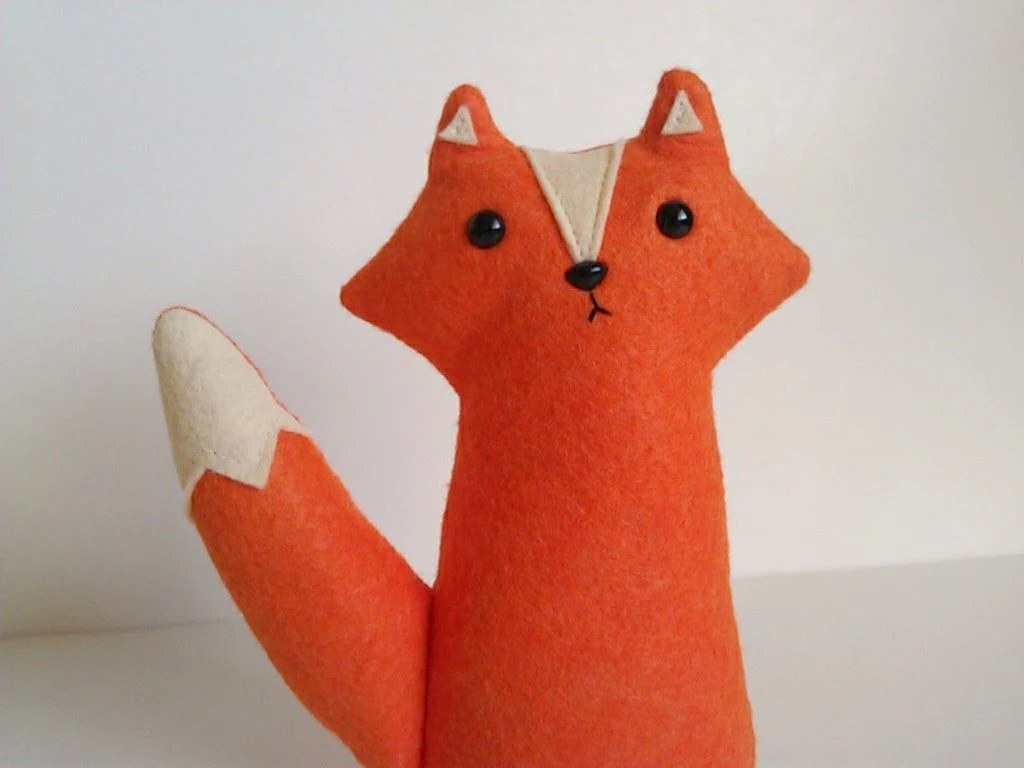 Owen the orange woodland fox - made to order by sleepy king