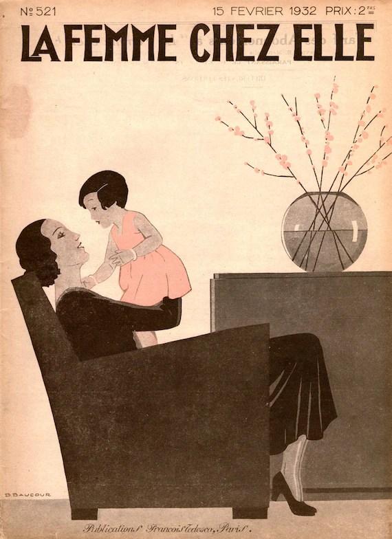 1930s Women's Magazine La Femme Chez Elle 15 February 1932