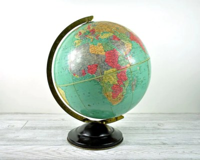 "Vintage 1940's Replogle 12"" Precision World Globe"