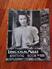 Vintage 1940s Knitting Pattern Book - Lincoln Mills' - Gorgeous Patterns