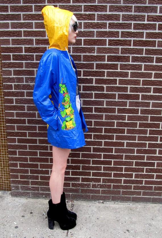 90's Teenage Mutant Ninja Turtles Color Block Raincoat Jacket