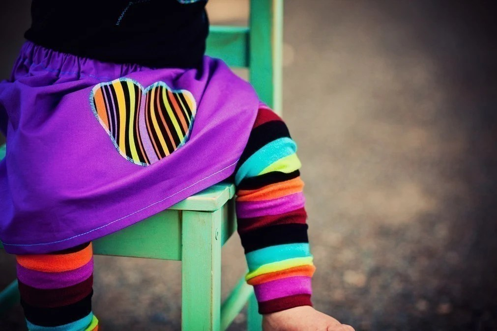 Midnight Rainbow Stripes and Matching Skirt