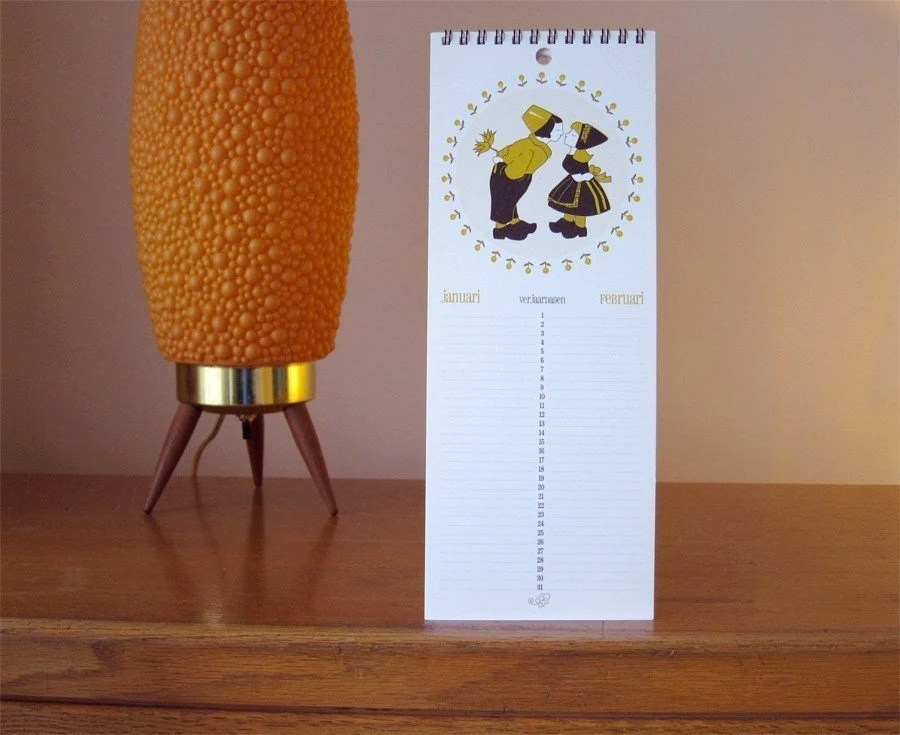 Dutch birthday calendar