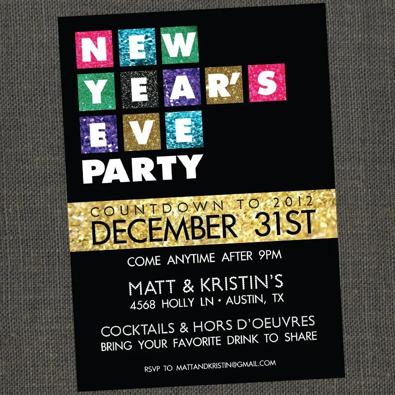 new year s eve movie themed party invite