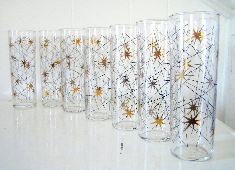 Mid-Century Starburst Tumblers