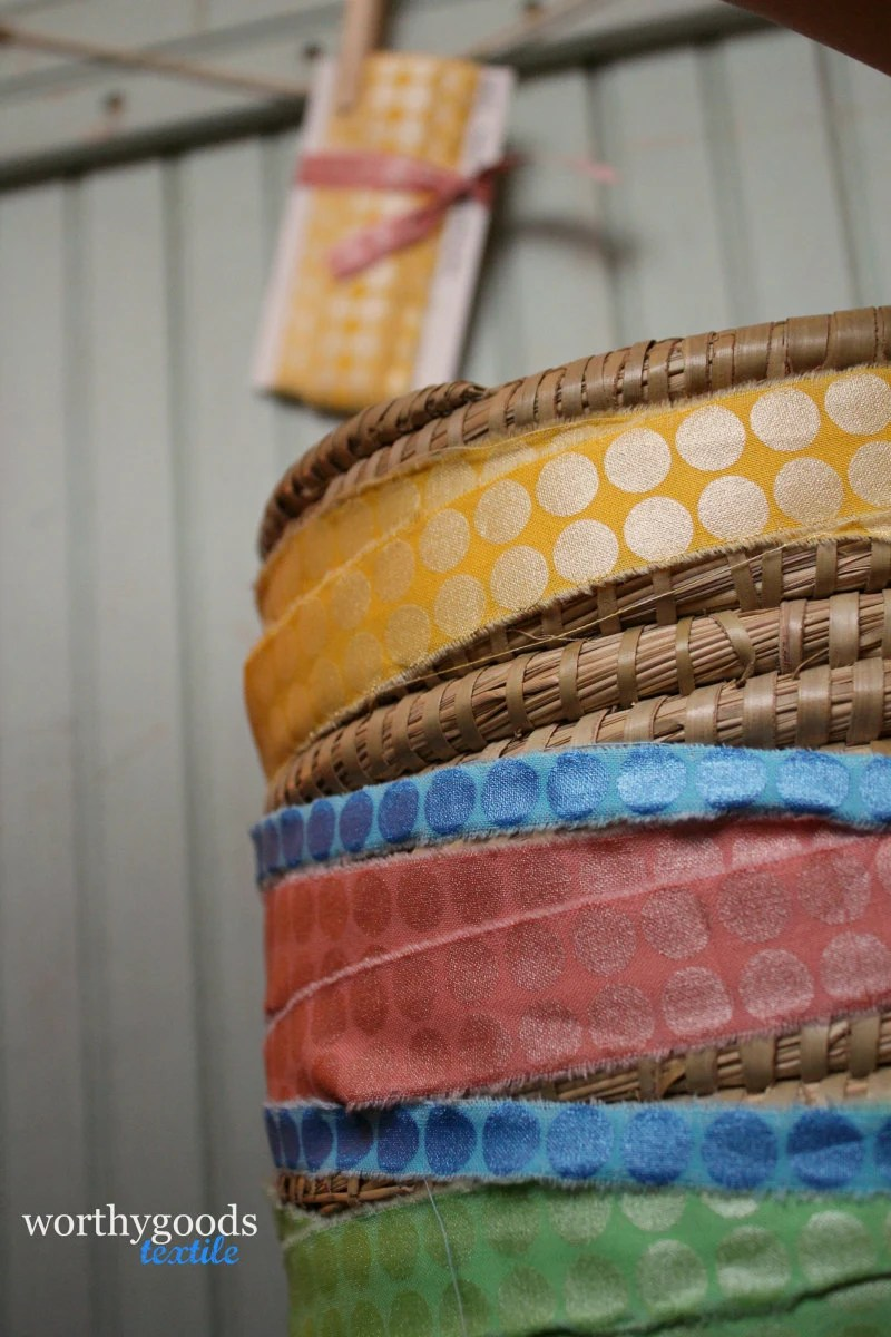shimmer dot ribbons from worthygoods textile