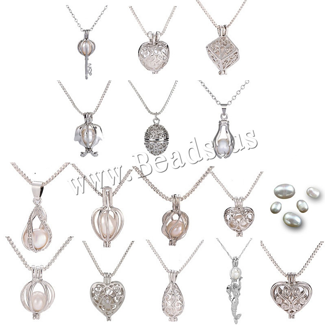 Oyster Wish Pearl Kit Zinc Alloy With Freshwater Pearl Platinum Color Plated Natural For Woma