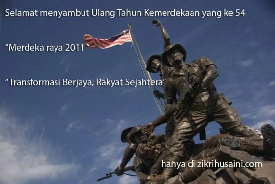 merdeka raya, tugu negara, tema kemerdekaan 2011, ulang tahun kemerdekaan 2011,