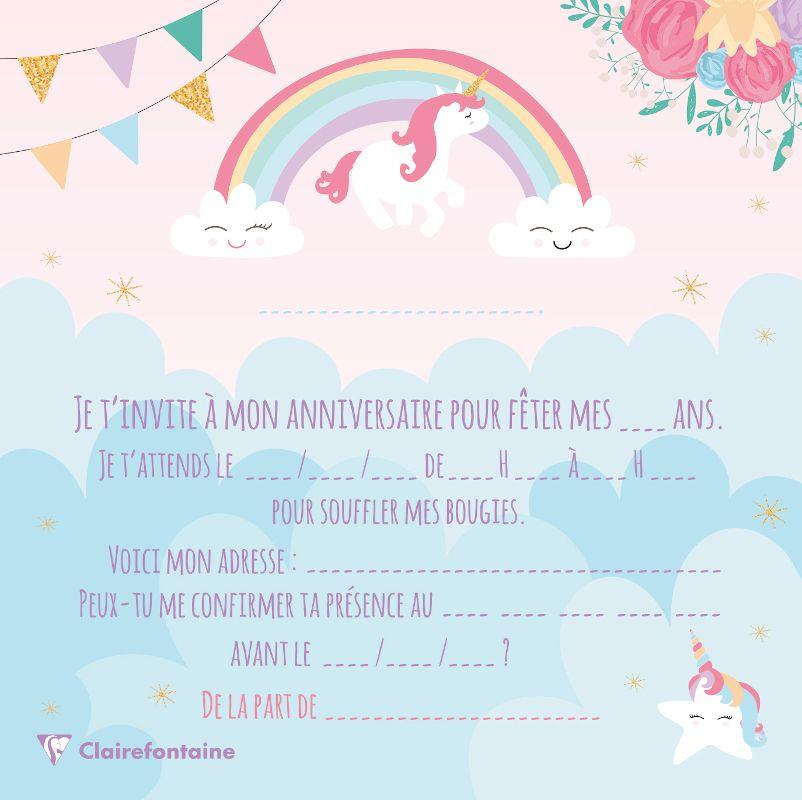 set invitation anniversaire