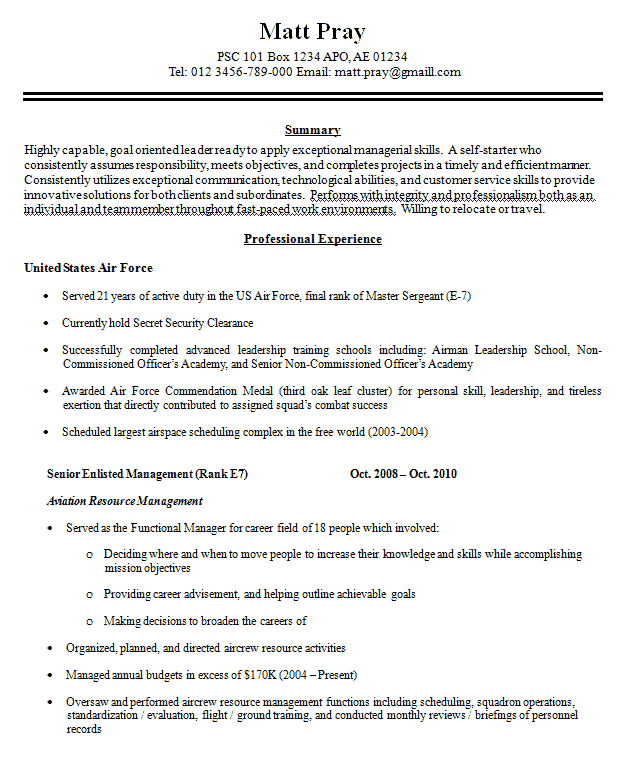 career services sample resumes resume for veterans example reference