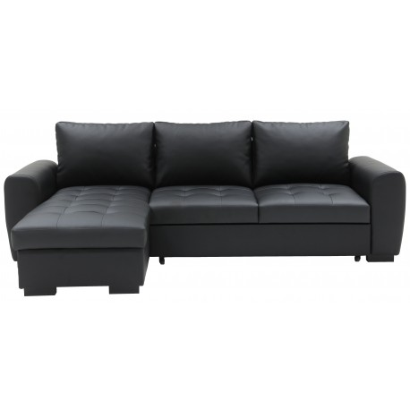 corner sofa bed york noir