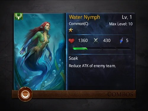 Water Nymph Heroes Of Camelot Wiki Wikia