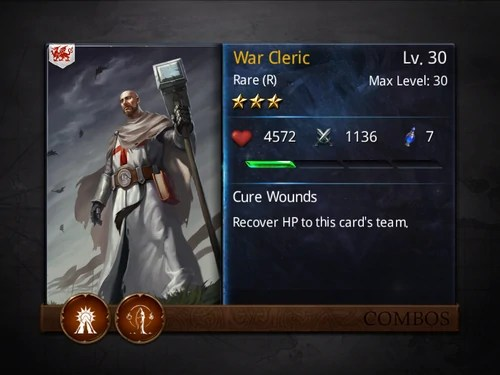War Cleric Heroes Of Camelot Wiki Wikia