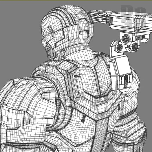 Iron Man 3 Patriot Coloring Pages Iron Patriot Sketch By