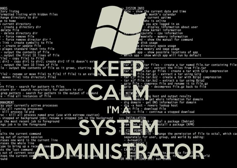Keep Calm, I'm System Administrator