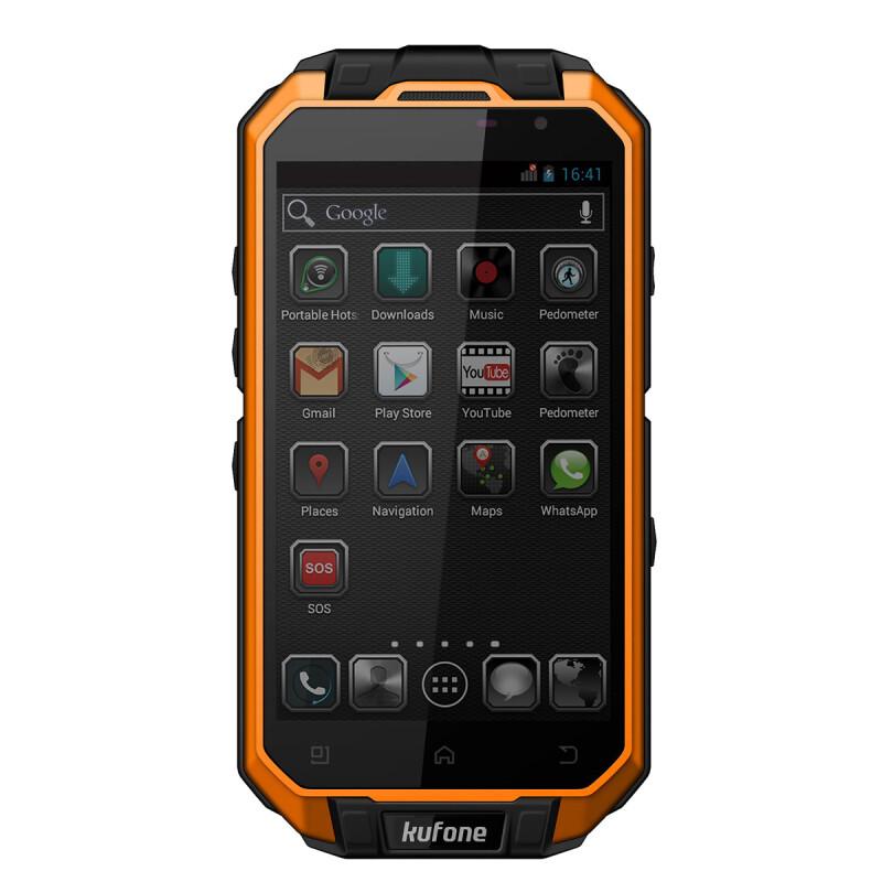Kufone ХV водонепроницаемый пылезащитный и противоударный ip68 и 13.0 MP камера 1Г+16Г четырехъядерный 1.5 ГГц стандарта GSM+WCDMA и 2 сим карты смартфон