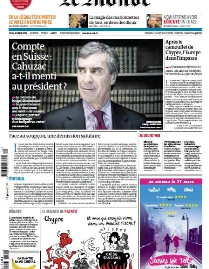 Le Monde Jeudi 21 Mars 2013