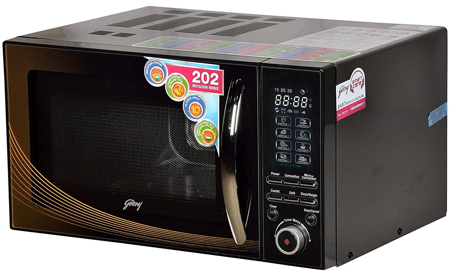 godrej 25 l convection microwave oven gmx25ca2fiz black floral