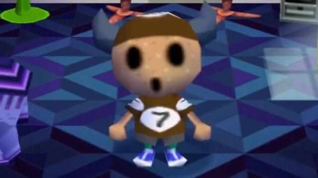 Animal Crossing, gyroid, face, glitch, creepy