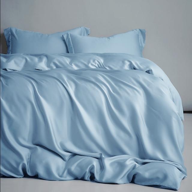 【滿2套送$100mo幣 A-nice】60支100%天絲素色四件式床包被套組(雙人/加大 多色任選 4003)